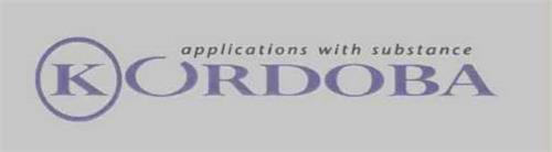 APPLICATIONS WITH SUBSTANCE KORDOBA
