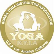 YOGA K.Y.I.A KOREA YOGA INSTRUCTOR ASSOCIATION U.S.A LOS ANGELES CALIFORNIA