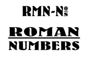 RMN-N O S ROMAN NUMBERS