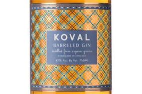 KOVAL BARRELED GIN DISTILLED FROM ORGANIC GRAINS HANDMADE IN CHICAGO 47% ALC. BY VOL. 750ML