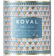 KOVAL DRY GIN DISTILLED FROM ORGANIC GRAINS HANDMADE IN CHICAGO AND 47% ALC. BY VOL. 750ML