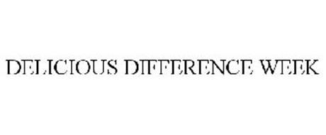 DELICIOUS DIFFERENCE WEEK