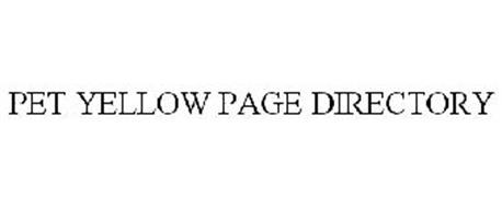 PET YELLOW PAGE DIRECTORY