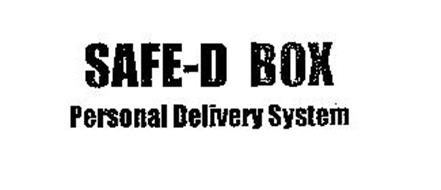 SAFE-D BOX PERSONAL DELIVERY SYSTEM