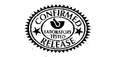 CONFIRMED RELEASE LABORATORY TESTED