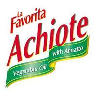 LA FAVORITA ACHIOTE VEGETABLE OIL WITH ANNATTO
