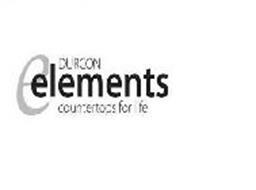 E DURCON ELEMENTS COUNTERTOPS FOR LIFE