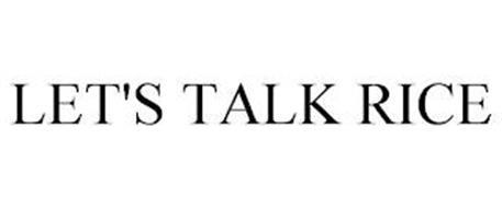 LET'S TALK RICE