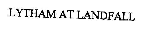 LYTHAM AT LANDFALL