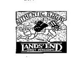 LANDS' END DIRECT MERCHANTS AUTHENTIC RUGBY