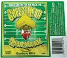 WISCONSIN CHEESEHEAD QUARTERBACK CRANBERRY WINE