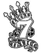 Lucky 7 tattoo trademark of langley kathleen serial for Number 7 tattoo gallery