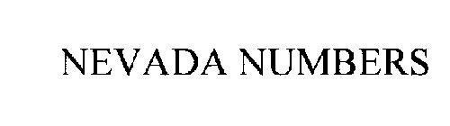NEVADA NUMBERS