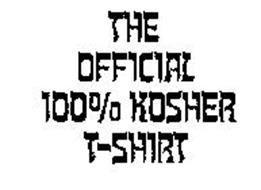 THE OFFICIAL 100% KOSHER T-SHIRT
