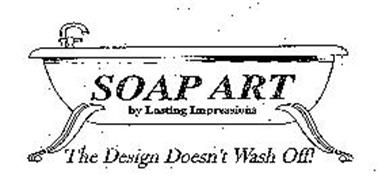 SOAP ART BY LASTING IMPRESSIONS THE DESIGN DOESN'T WASH OFF!