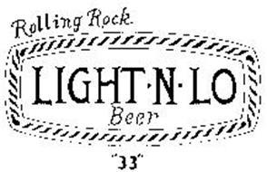 """ROLLING ROCK LIGHT.N.LO BEER """"33"""""""