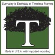 EVERYDAY IS EARTHDAY AT TIMELESS FRAMES MADE IN U.S.A WITH IMPORTED MOULDING