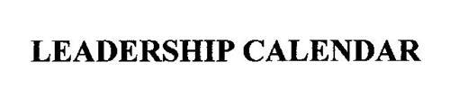 LEADERSHIP CALENDAR