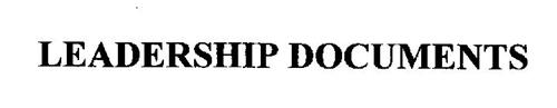 LEADERSHIP DOCUMENTS