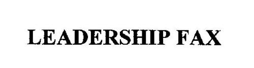 LEADERSHIP FAX