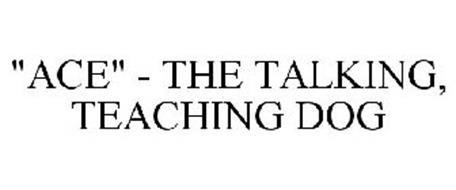 """ACE"" - THE TALKING, TEACHING DOG"