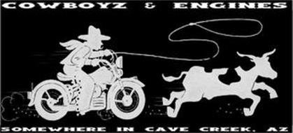 COWBOYZ AND ENGINES SOMEWHERE IN CAVE CREEK, AZ