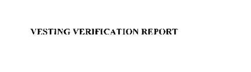 VESTING VERIFICATION REPORT
