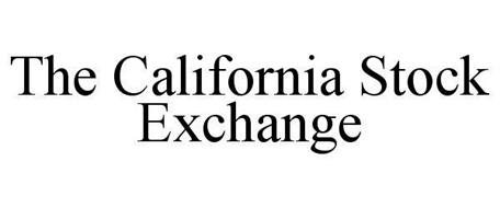THE CALIFORNIA STOCK EXCHANGE