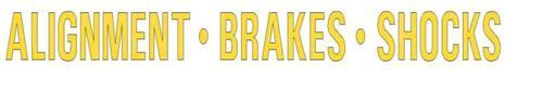 ALIGNMENT · BRAKES · SHOCKS