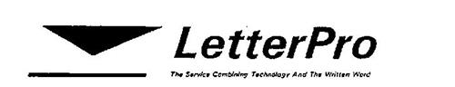 LETTERPRO THE SERVICE COMBINING TECHNOLOGY AND THE WRITTEN WORD