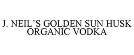 J. NEIL'S GOLDEN SUN HUSK ORGANIC VODKA