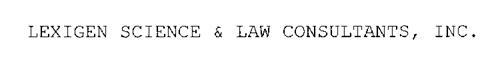 LEXIGEN SCIENCE & LAW CONSULTANTS, INC.