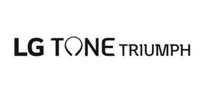 lg tone triumph trademark of lg corp.. serial number: 87343840