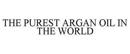 THE PUREST ARGAN OIL IN THE WORLD