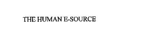 THE HUMAN E-SOURCE