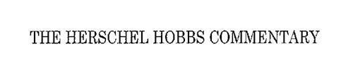 THE HERSCHEL HOBBS COMMENTARY