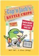 CAP'N JACK'S KETTLE CHIPS, ROCKIN' PICANTE SALSA, 0G TRANS FAT, NET WT. 2.25OZ (64G)