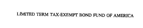 LIMITED TERM TAX-EXEMPT BOND FUND OF AMERICA