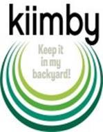 KIIMBY KEEP IT IN MY BACKYARD!