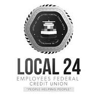"""LOCAL 24 - EMPLOYEES FEDERAL CREDIT UNION · X ESTABLISHED IN 1961 · X LOCAL 24 EMPLOYEES FEDERAL CREDIT UNION """"PEOPLE HELPING PEOPLE"""""""
