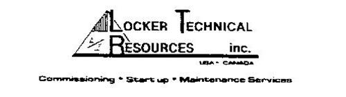 E/I LOCKER TECHNICAL RESOURCES INC. USA-CANADA COMMISSIONING - START UP - MAINTENANCE SERVICES