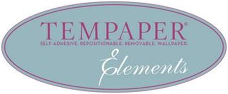 TEMPAPER SELF-ADHESIVE. REPOSITIONABLE. REMOVABLE. WALLPAPER. ELEMENTS
