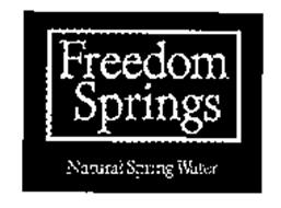 FREEDOM SPRINGS NATURAL SPRING WATER