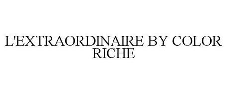 L'EXTRAORDINAIRE BY COLOR RICHE
