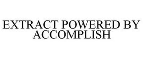 EXTRACT POWERED BY ACCOMPLISH