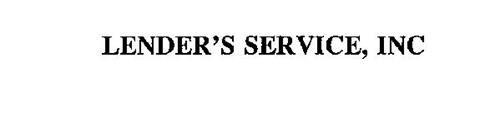 LENDER'S SERVICE, INC