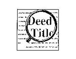 DEED TITLE