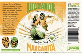 LUCHADOR AUSTIN, TEXAS MADE WITH PREMIUM TEQUILA READY TO DRINK MARGARITA LUCHADORESAUSTIN.COM MADE WITH PREMIUM TEQUILA LUCHADOR AUSTIN, TX
