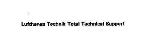 LUFTHANSA TECHNIK TOTAL TECHNICAL SUPPORT