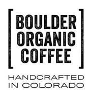 BOULDER ORGANIC COFFEE HANDCRAFTED IN COLORADO